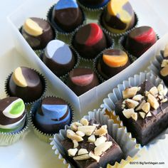 Truffles & Fudge from Les Beaux Chocolats (Beverly Hills, CA, USA), bought at Green Saturday LA at Alpine Village #vegan #vegantruffles #veganfudge #veganchocolate