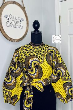 Short African Dresses, African Blouses, African Tops, African Print Dresses, African Prints, African Fashion Ankara, Latest African Fashion Dresses, African Print Fashion, Crop Top Dress