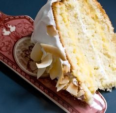 Coconut Cake with Passion Fruit Filling. Step by step recipe with pictures from a pastry chef.