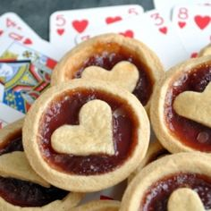 Queen of Heart Tarts    I can just see all of the Queens and Princesses sipping tea over these heart tarts, so why not make sure to incorporate them into your enchanted evening? Just make sure that no one loses their heads.    Make your own with this recipe from Better Homes and Gardens
