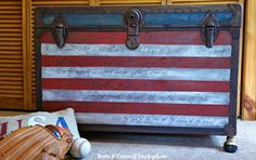 Star Spangled Banner Trunk I need to be on the lookout for a tattered old trunk!