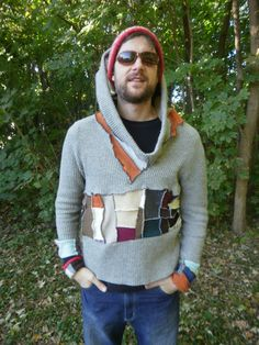 Custom Mens Recycled Patchwork Mosaic Sweater Made to by Jeorjia, $95.00
