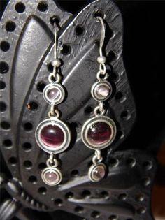 Lia Sophia RETIRED Earrings:Plum Dandy $5.00