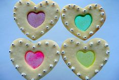 Stained Glass Cookies for Valentine's Day the center is jolly ranchers.or any candy you want to crush up and melt inside. Heart Cookies, No Bake Cookies, Sugar Cookies, Women's Dresses, Dresses Online, Fashion Dresses, Window Cookies, Stained Glass Cookies, Heart Shaped Cookie Cutter