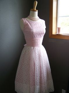 Rare sabo skirt stelly coral pink lace tea dress