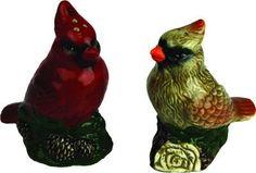 Salt & Pepper Shaker Set - Cardinal