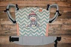 Sock Monkey (Customized by Tracy Gangi of MamaT's Art) Baby Fish, Baby Gadgets, T Art, Everything Baby, Baby Wearing, Baby Room, Diaper Bag, Rivers, Children