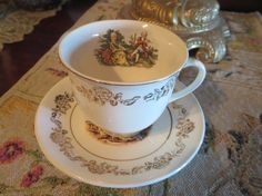 British Empire Ceramics  Menuet Tea Cup and by AntiquesandCoinsJL