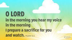 Psalms 5:3 Scripture Art Graphic