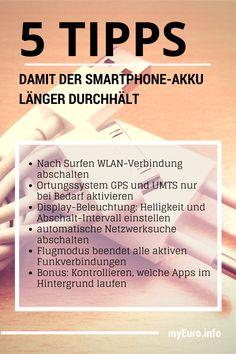 5 Tipps um Energiefresser im Smartphone abzuschalten, um die Akkulaufzeit zu verlängern