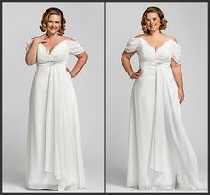 Wholesale cheap empire wedding dresses online, 2014 spring summer - Find best 2014 popular style empire beach plus size wedding dresses off shoulder short sleeve beads ruched chiffon bridal gowns custom made w320 at discount prices from Chinese empire wedding dresses supplier on DHgate.com.