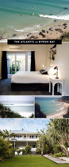 let's go to: The Atlantic at Byron Bay. Beautiful Australian beach resort