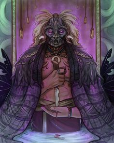 """""""The Consort"""" Was talking about Nadak's Return with a friendo. His powers revolve around the dead. The Consort :color: Witch Doctor, Creepy, Doodles, Deviantart, Gallery, Drawings, Extension, Painting, Fictional Characters"""