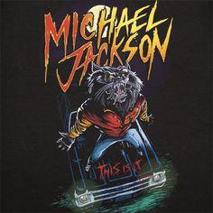 Michael Jackson Werecat this is it t-shirt