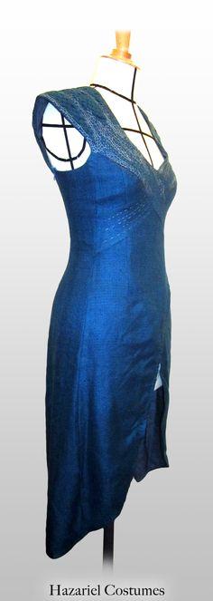 Blue silk dress handmade, Daenerys Targaryen in Game of Thrones.