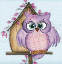 Purple Girl Owl