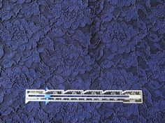 Navy Cotton Corded Floral Lace by SeamRipped on Etsy, $20.00