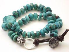 Turquoise wrap bracelet (Customer Design) - Lima Beads