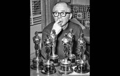 "April 18, 1961: Celebrated writer, director and producer Billy Wilder sits with his collection of six Oscars after picking up three more -- best screenplay, best director and best picture -- the previous evening for ""The Apartment."""