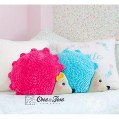 Pixie the Hedgehog Pillow PDF Crochet Pattern Instant Crochet Pillow Patterns Free, Crochet Blanket Edging, Crochet Stitches Patterns, Free Crochet, Hedgehog Day, Animal Cushions, Crochet For Kids, Crochet Toys, Pattern Making