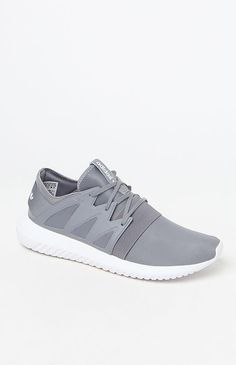 Hooked on Tubular Viral Neoprene Gray Low-Top Sneakers that I found on the PacSun App