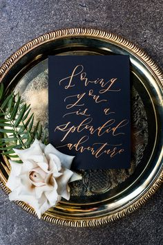 Place setting for Industrial Chic Winter Wedding