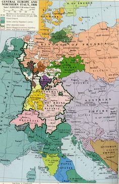 (1806) Central Europe and Northern Italy #map #europe