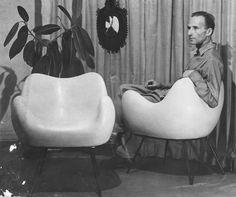 To jego fotelem zachwycił się Le Corbusier Laminate Furniture, Furniture Decor, Furniture Design, Le Corbusier, International Style, Photo B, Sgraffito, Mid Century Design, Midcentury Modern
