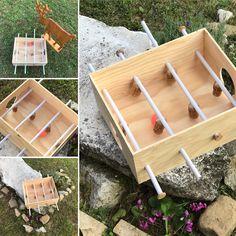 Calcio Balilla fai da te con scatola vini Estate, Origami, Tray, Lab, Origami Paper, Trays, Origami Art, Board