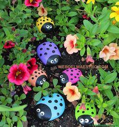 Piedras pintadas para jardín