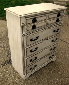 take an old ugly dresser and make it wonderful by three steps. geesh.