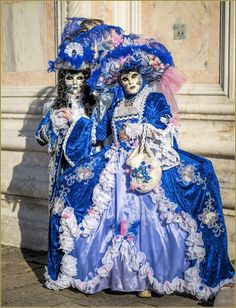 Blue elegance at the  Carnival of Venice 2016