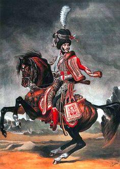 Colonel du 4ème Hussards par Sergei Letin