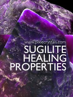 Crystal Healng Properties and Meanings of Sugilite - See Full Article -x- www.pixiecrystals.com : Regal - Connection to 'Christ' Consciousness - increases Psychic abilites  - Grounds astral information - Promotes Humanitarianism