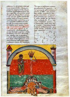 Fiesta de Belsasar. Beato de Liébana.Comentarios del Apocalipsis. España 1220 Comprado por Pierpont Morgan, 1910 MS M.429 (fol. 159)