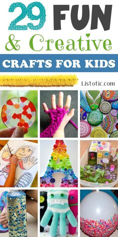 A ton of DIY super easy kids crafts and activities for boys and girls! Quick, cheap and fun projects for toddlers all the way to teens! Listotic.com
