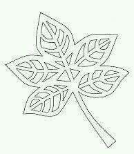 list s výřezy Kirigami, Leaf Template, Flower Template, Templates, Autumn Crafts, Autumn Art, Homemade Stencils, Paper Art, Paper Crafts