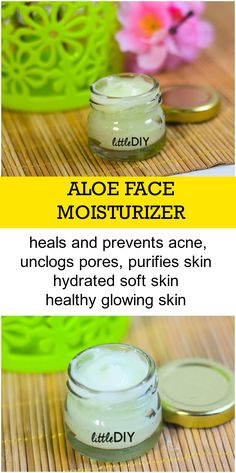 DIY ALOE FACE MOISTURIZER