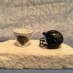 NFL MINIATURE Jacksonville Jaguars PORCELAIN CUP 2007 & HELMET 2010 TEAM COMBO