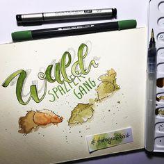 """Gefällt 15 Mal, 1 Kommentare - Bianka Behrami (@bb.illustration) auf Instagram: """"🍂eine kleine Skizze zum Feierabend #brushlettering #wordart #brushpenwatercolor #copicmultiliner…"""""""
