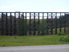 100 year old wooden bridge.