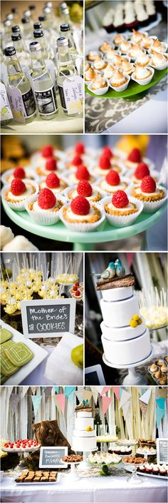 Cake stands and chalkboard labels