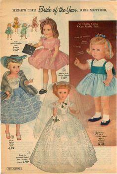 1960 Advert Doll Shirley Temple Chatty Cathy Mattel Bride Penny Karen | eBay