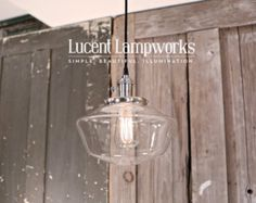 Hanging Pendant Light Fixture with 8 Glass by lucentlampworks