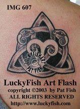 Aries Triquetra Celtic Tattoo Design 1