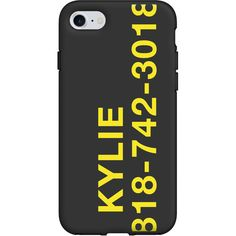 KYLIE CELL PHONE CASE (1.485 RUB) ❤ liked on Polyvore featuring accessories, tech accessories, iphone cell phone cases and iphone cover case