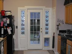 Backyard by mabejarano1215 on pinterest pet door double for French doors with dog door built in