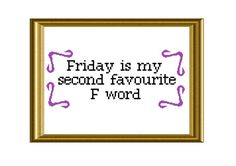 F Word Funny TGIF Quote Cross Stitch Pattern by RatherUnseamly, £2.00