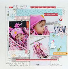 December Snow Play by Megan Klauer featuring Bella Blvd Winter Wonder - Scrapbook.com