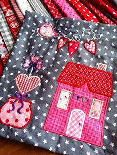 Der Stickbär  Machine embroidery Block of the Month 1 Caterinas Block